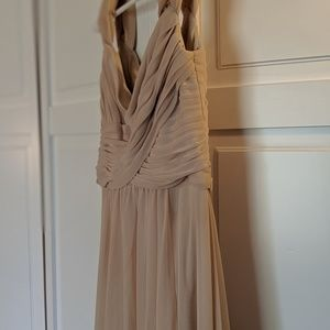 David's bridal bridesmaid dress size 4 ivory